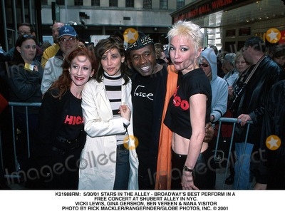 Nana Visitor Photo -  53001 Stars in the Alley - Broadways Best Perform in a Free Concert at Shubert Alley in NYC Vicki Lewis Gina Gershon Ben Vereen  Nana Visitor Photo by Rick MacklerrangefinderGlobe Photos Inc