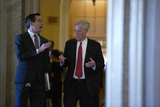 Angus King Photo - United States Senator Angus King (Independent of Maine) returns to the Senate Chamber following a brief recess in the impeachment trial of United States President Donald J Trump at the United States Capitol in Washington DC US on Monday February 3 2020  The Senate is set to hear closing statements today with a final vote expected Wednesday Credit Stefani Reynolds  CNPAdMedia