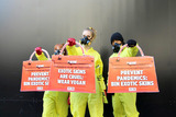 Photo - Hazmat-Clad Protesters Hit London Fashion Week Over Exotic Skins