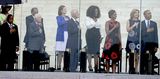 Ambassador Andrew Young Photo - From left to right United States Representative John Lewis (Democrat of Georgia) Ambassador Andrew Young former US President Jimmy Carter Lynda Bird Johnson Robb former US President Bill Clinton Oprah Winfrey first lady Michelle Obama Ambassador Caroline Kennedy and United States President Barack Obama listen to the National Anthem at the Let Freedom Ring ceremony on the steps of the Lincoln Memorial to commemorate the 50th Anniversary of the March on Washington for Jobs and FreedomCredit Ron Sachs  CNPAdMedia