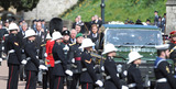 Prince of Wales Photo - Photo Must Be Credited Alpha Press 073074 17042021Prince Charles Prince of Wales Prince William Duke of Cambridge Prince Harry Duke of Sussex and Vice-Admiral Sir Timothy Laurence follow Prince Philip Duke of Edinburghs coffin on a modified Jaguar Land Rover during the Ceremonial Procession during the funeral of Prince Philip Duke of Edinburgh at St Georges Chapel in Windsor Castle in Windsor Berkshire No UK Rights Until 28 Days from Picture Shot Date AdMedia