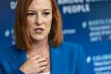Photos From White House Press Secretary Jen Psaki Daily Breifing