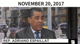 Adriano Espaillat Photo - In this image from United States Senate television this is a graphic displayed by counsel to the President Jay Sekulow to show that calls for the Presidents impeachment came even before he took office as he makes his closing argument during the impeachment trial of US President Donald J Trump in the US Senate in the US Capitol in Washington DC on Monday February 3 2020Pictured is US Representative Adriano Espaillat (Democrat of New York)Mandatory Credit US Senate Television via CNPAdMedia