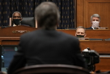Antony Blinken Photo - United States Secretary of State Antony Blinken testifies before the House Committee on Foreign Affairs on The Biden Administrations Priorities for US Foreign Policy on Capitol Hill on Wednesday March 10 2021 in Washington DC  US Representative Gregory Meeks (Democrat of New York) Chairman US House Committee on Foreign Affairs left and US Representative Michael McCaul (Republican of Texas) Ranking Member US House Committee on Foreign Affairs right look onCredit Ken Cedeno  Pool via CNPAdMedia