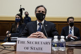 Antony Blinken Photo - United States Secretary of State Antony Blinken during a House Foreign Affairs Committee hearing in Washington DC US on Wednesday March 10 2021 The Biden administration is considering withdrawing all troops from Afghanistan by May 1 as it leans on President Ashraf Ghani to accelerate peace talks with the Taliban including by supporting a proposal for six-nation discussions that include Iran Credit Ting Shen  Pool via CNPAdMedia