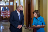 Photos From Speaker of the United States House of Representatives Nancy Pelosi (Democrat of California) meets with Scott Morrison MP, Prime Minister of Australia at the US Capitol