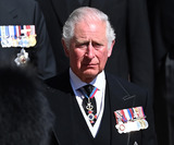 Wale Photo - Photo Must Be Credited Alpha Press 073074 17042021Prince Charles Prince of Wales follow Prince Philip Duke of Edinburghs coffin on a modified Jaguar Land Rover during the Ceremonial Procession during the funeral of Prince Philip Duke of Edinburgh at St Georges Chapel in Windsor Castle in Windsor Berkshire No UK Rights Until 28 Days from Picture Shot Date AdMedia