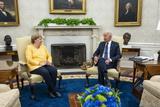 Photo - Biden Meets Merkel in the Oval Office