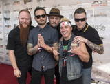 Atreyu Photo - 18 July 2016 - Columbus Ohio - Marc McKnight Travis Miguel Brandon Saller Dan Jacobs and Alex Varkatzas of the band ATREYU attend the Alternative Press Music Awards 2016 held at Jerome Schottenstein Center Photo Credit Jason L NelsonAdMedia