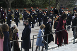 Photo - ARLINGTON VA - JANUARY 20 Former President George W Bush and former First Lady Laura Bush participate in a wreath-laying ceremony at the Tomb of the Unknown Soldier January 20 2021 in Arlington National Cemetery in Arlington Virginia Credit Katherine Frey - Pool via CNPAdMedia