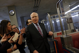 The Subways Photo - Senior US Senator Patrick Leahy a Democrat from Vermont speaks to reporters during a break from the impeachment trial before riding the subway at the US Capitol in Washington DCon Thursday January 30 2020 Credit Joshua Lott  CNPAdMedia