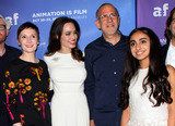 Photo - 20 October 2017 - Hollywood California - Nora Twomey Angelina Jolie Eric Beckman and Saara Chaudry The Breadwinner US Premiere held at the TCL Chinese 6 Theatre in Hollywood Photo Credit AdMedia
