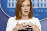 Photos From Jen Psaki speaks from White House