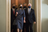 Photo - Amy Coney Barrett Arrives at the US Capitol