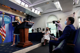 Photo - Kayleigh McEnany Arrives to a News Conference