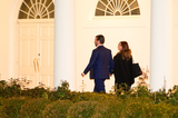Photos From U.S. President Donald Trump's son Donald Trump Jr. and Kimberly Guilfoyle return to the White House after a visit to Dalton, Georgia, in Washington