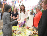 Photo - 11 June 20121 - Kate Duchess of Cambridge Catherine Katherine Middleton Camilla Duchess of Cornwall Queen Elizabeth II meet people from communities across Cornwall at an event in celebration of The Big Lunch initiative at The Eden Project near St Austell in south west England in Cornwall Photo Credit ALPRAdMedia