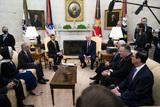 Photos From President Trump Meets with Abdullah bin Zayed bin Sultan Al Nahyan