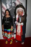 Photo - Lynette Two Bulls Chief Phillip Whiteman Jrat the Hostiles Premiere Samuel Goldwyn Theater Beverly Hills CA 12-14-17