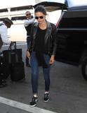 Photos From Alessandra Ambrosio is seen at LAX Airport