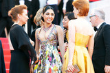 Emmanuelle Bercot Photo - CANNES FRANCE - MAY 12 Actress Golshifteh Farahani director Eva Husson and actress Emmanuelle Bercot attend the screening of Girls Of The Sun (Les Filles Du Soleil) during the 71st annual Cannes Film Festival at Palais des Festivals on May 12 2018 in Cannes France(Photo by Laurent KoffelImageCollectcom)