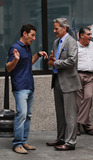 Campbell Scott Photo - Actors Mark Feuerstein (L) and Cambpell Scott on the Manhattan set of the new TV show Royal Pains on July 24 2009 in New York City