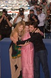 Arielle Dombasle Photo - Actresssupermodel LAETITIA CASTA (centre) with actor FREDERIC DIEFENTHAL  actress ARIELLE DOMBASLE at the Cannes Film Festival to promote their new movie Savage Souls20MAY2001  Paul SmithFeatureflash