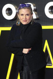 Photo - Carrie Fisher at the European premiere of Star Wars The Force Awakens in Leicester Square London December 16 2015  London UKPicture James Smith  Featureflash