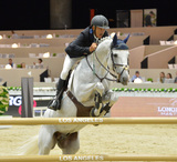 Arsia Ardalan Photo - Arsia Ardalan (USA) riding Chin Chin in the Artemide Trophy International jumping competition at the 2015 Longins Masters Los Angeles at the LA Convention CentreOctober 1 2015  Los Angeles CAPicture Paul Smith  Featureflash
