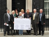 Annette Crosbie Photo - London UK Brian Blessed at the Petition To Downing Street Actors Brian Blessed and Annette Crosbie are among a group delivering a post card to 10 Downing Street signed by celebrities such as Joanna Lumley Twiggy Eddie Izzard and Julian Clary in support of greater transparency on animal research on World Day for Laboratory Animals 24th April 2013Keith MayhewLandmark Media